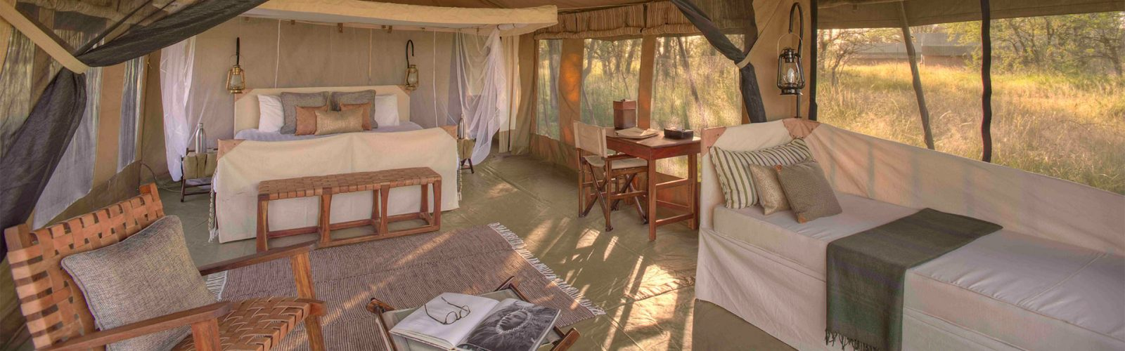 & Olakira Camp Luxury Safari Tent | Ocean Enterprises Travel